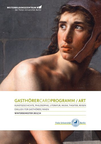 GASTHÖRERCARDPROGRAMM ART - Freie Universität Berlin