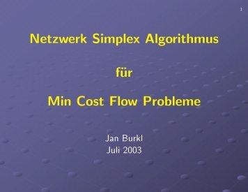 Pseudocode zum Simplex Algorithmus und zur Ellipsoid Methode