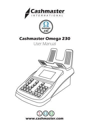 CASHMASTER OMEGA 215 HELP
