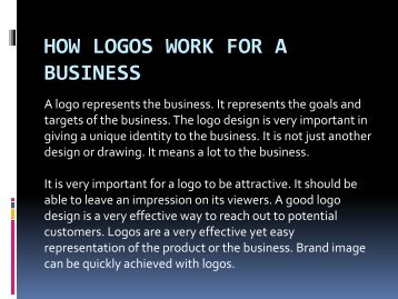 How Logos Work for a Business
