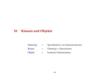 Kapitel 10: Klassen und Objekte