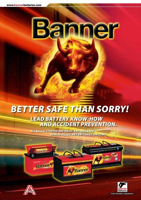 Material safety data sheet ZVEI GB (0.5 Mb) - Banner Batteries