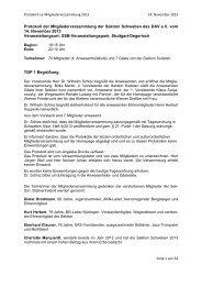 Protokoll Mitgliederversammlung 2013 - DAV Sektion Schwaben