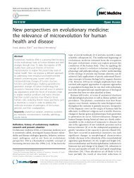 New perspectives on evolutionary medicine: the ... - BioMed Central