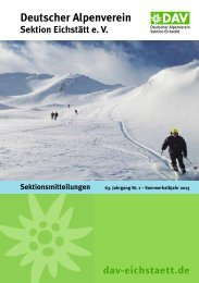 Deutscher Alpenverein - DAV Eichstätt
