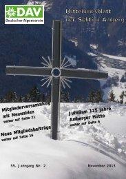 Mitteilungsblatt der Sektion Amberg - DAV – Sektion Amberg