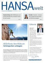 HANSAwelt Ausgabe 03/2013 - Hansainvest