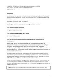 Protokoll der 15. Sitzung der Arbeitsgruppe Informationskompetenz