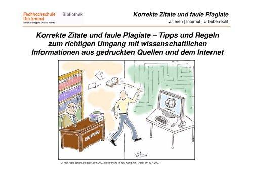 Korrekte Zitate Und Faule Plagiate Informationskompetenz
