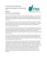 Raser Technologies, Inc. - Turnaround Management Association