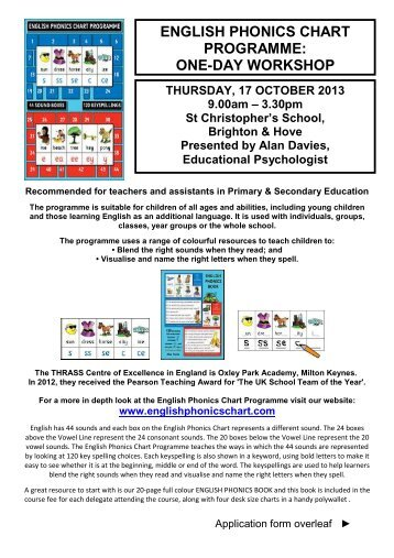 131017 english phonics one day workshop st thrass