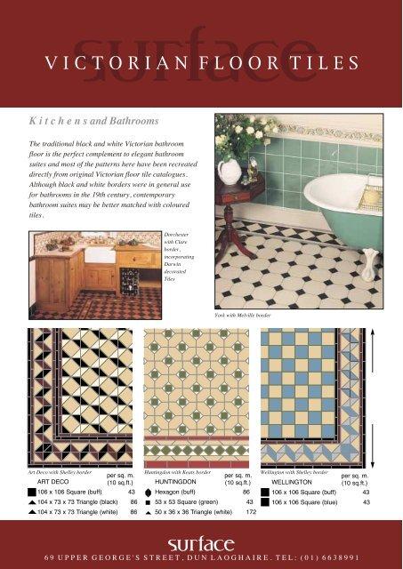 VICTORIAN FLOOR TILES - Surface Bathrooms