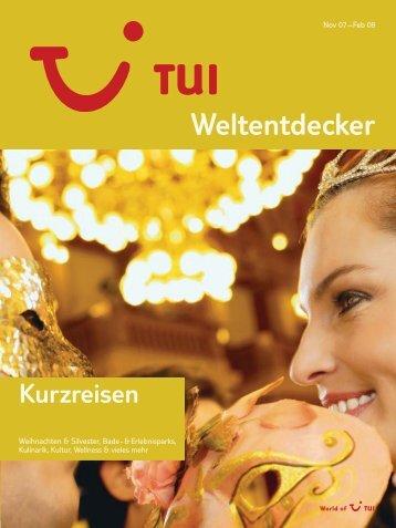 TUI - Kurzreisen - Winter 2007/2008 - tui.com - Onlinekatalog