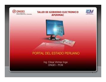 PORTAL DEL ESTADO PERUANO - Ongei