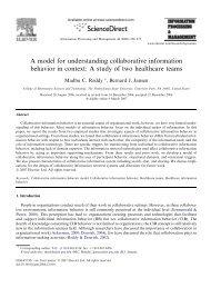 A model for understanding collaborative information behavior in ...