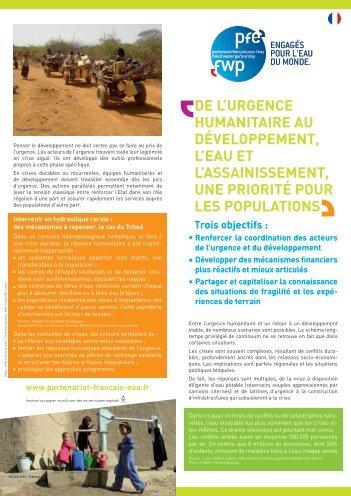 DE L'URGENCE HUMANITAIRE AU ... - Groupe URD