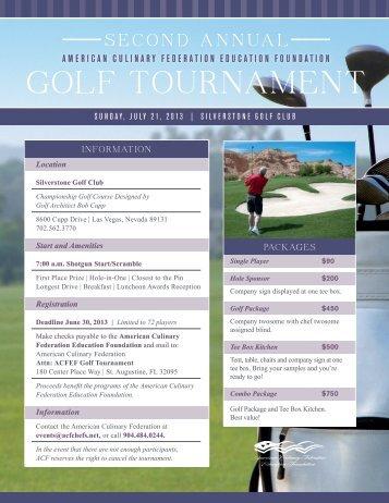 ACFEF Golf Tournament [PDF] - American Culinary Federation