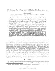 Nonlinear Gust Response of Highly Flexible Aircraft - the AOE home ...