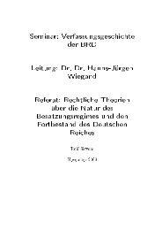 Seminar: Verfassungsgeschichte der BRD - Rolf Sievers