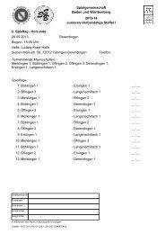 Spielgemeinschaft Baden und Württemberg 2013/14 Junioren ...