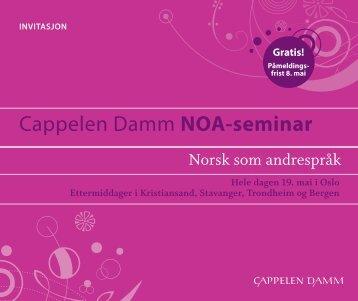 Cappelen Damm noA-seminar