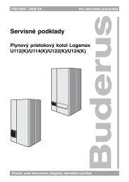 Servisné podklady - Buderus
