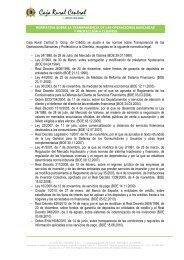 normativa sobre la transparencia de las operaciones bancarias y ...