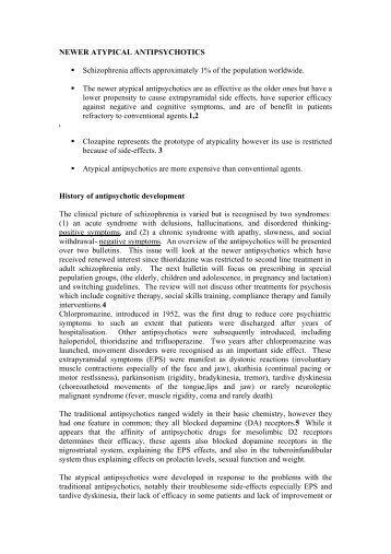 Newer Atypical Antipsychotics Vol 7 No 6 - St. James's Hospital