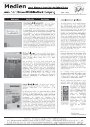 Energie / Politik / Klima - Umweltbibliothek Leipzig