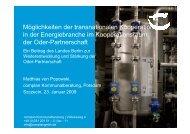 Möglichkeiten der transnationalen Kooperation in der ...