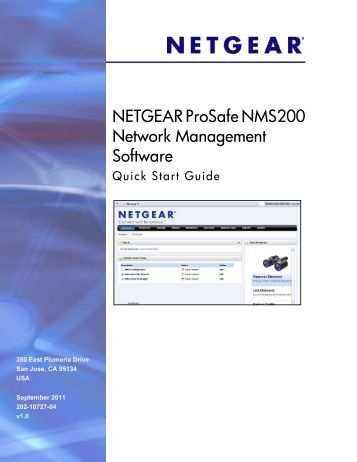 NETGEAR ProSafe NMS200 Network Management Software Quick ...