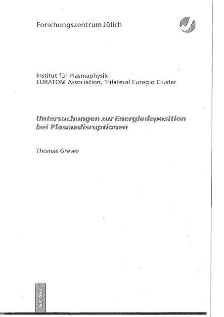 t - JUWEL - Forschungszentrum Jülich