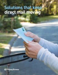 Solutions that keep direct mail moving - Pitney Bowes