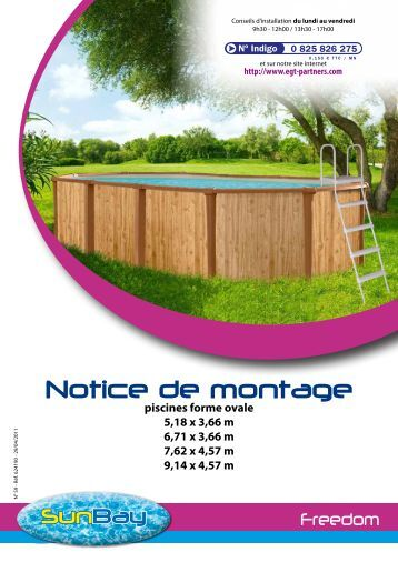 notice de montage piscine liberty trigano store. Black Bedroom Furniture Sets. Home Design Ideas