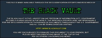 Senator Obama correspondence from the ... - The Black Vault
