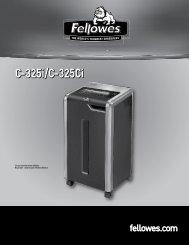 Manuel d'utilisation C-325i/C-325Ci - Fellowes