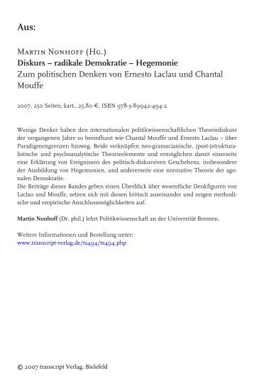 Chantal Mouffe - transcript Verlag