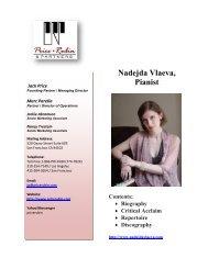 Nadejda Vlaeva, Pianist - Price Rubin & Partners