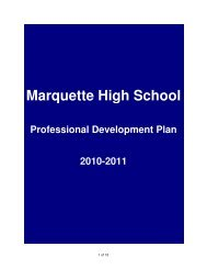 Professional Development Plan - Rockwood School District