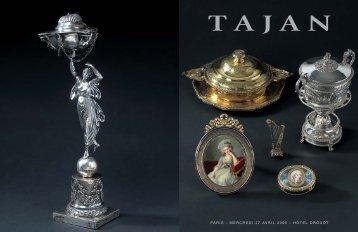 Tajan - Orfèvrerie - Objets de vitrine - Vente le 27 avril 2005