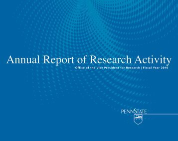 2010 Annual Report of Research Activity - Vice President for Research