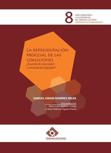 La representación procesal de las coaliciones - Tribunal Electoral ...