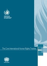 The Core International Human Rights Treaties - Office of the High ...