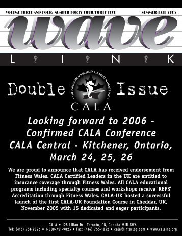 Issue 44-45 - Canadian Aquafitness Leaders Alliance Inc.