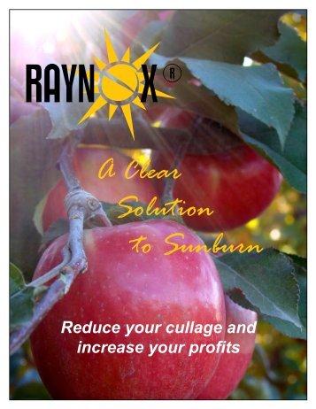 RAYNOX ® - A Clear Solution to Sunburn - Pace International, LLC