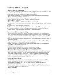 Microbiology 205 Exam 1 study guide