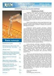 Užkrečiamosios ligos ir AIDS 2010 m. kovas - Užkrečiamųjų ligų ir ...