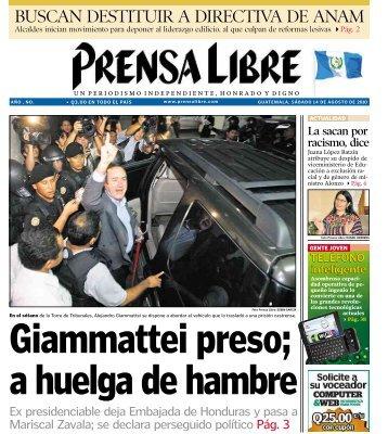 a huelga de hambre - Prensa Libre