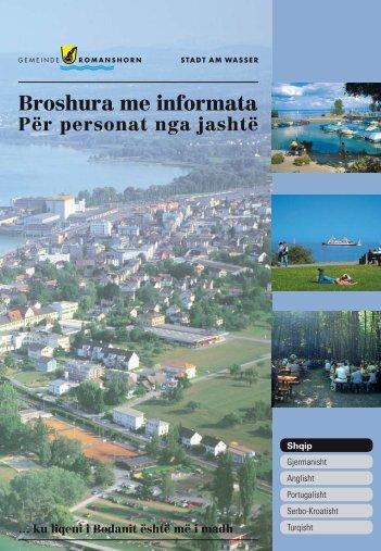 Broshura me informata Për personat nga jashtë