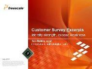 Customer Survey Excerpts - Center for Information-Development ...